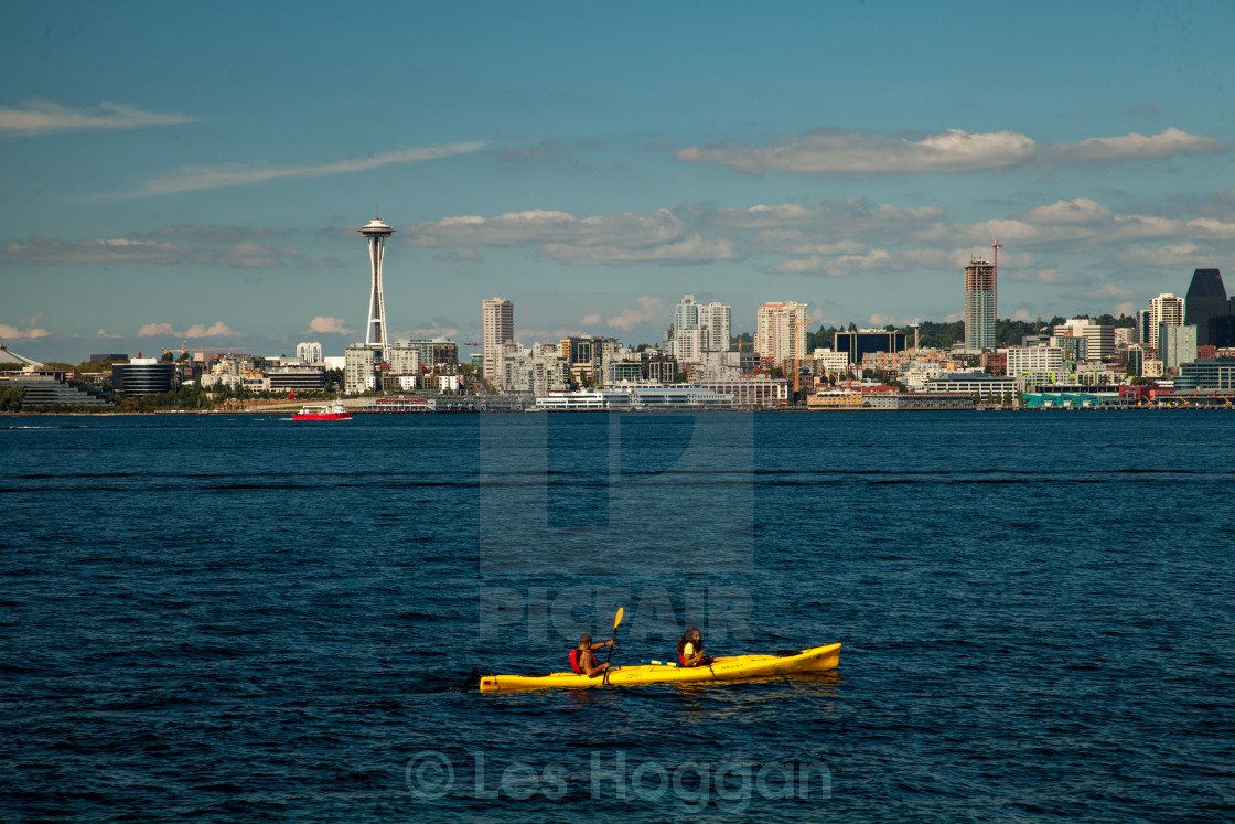 """Seattle from West Seattle"" stock image"