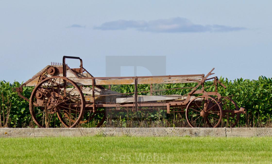"""Antique Manure Spreader"" stock image"