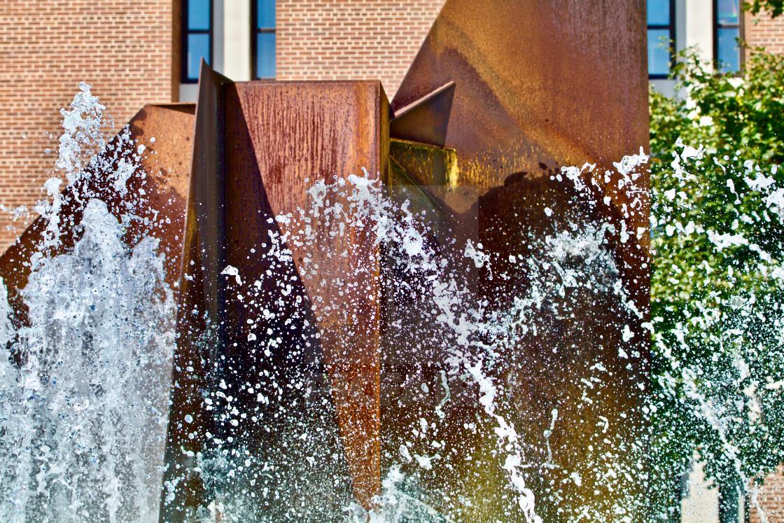 """Splashing Fountain"" stock image"