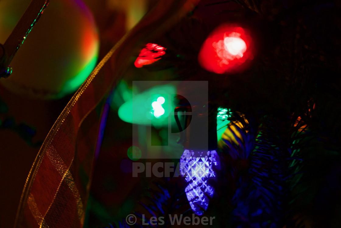 """""""Christmas Lights Closeup"""" stock image"""