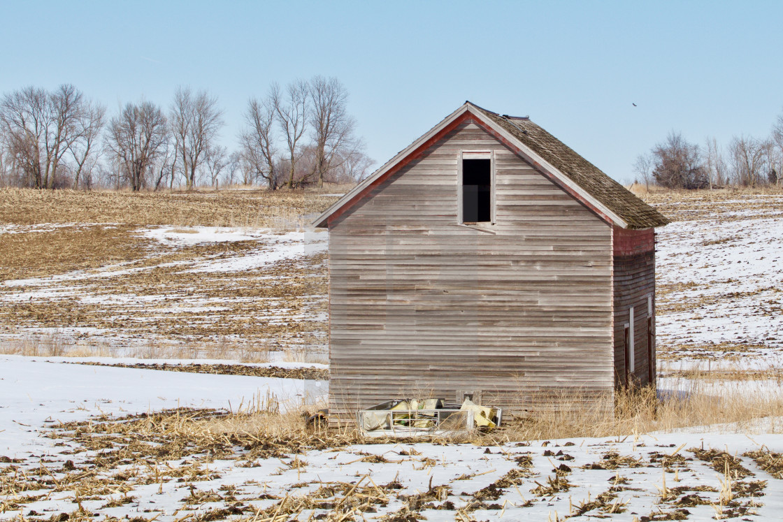 """Old Brown Shed"" stock image"