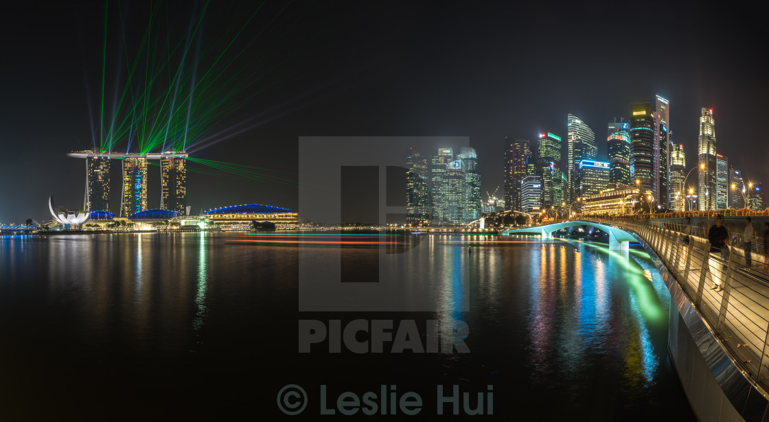 """Singapore Financial District Panoramic"" stock image"