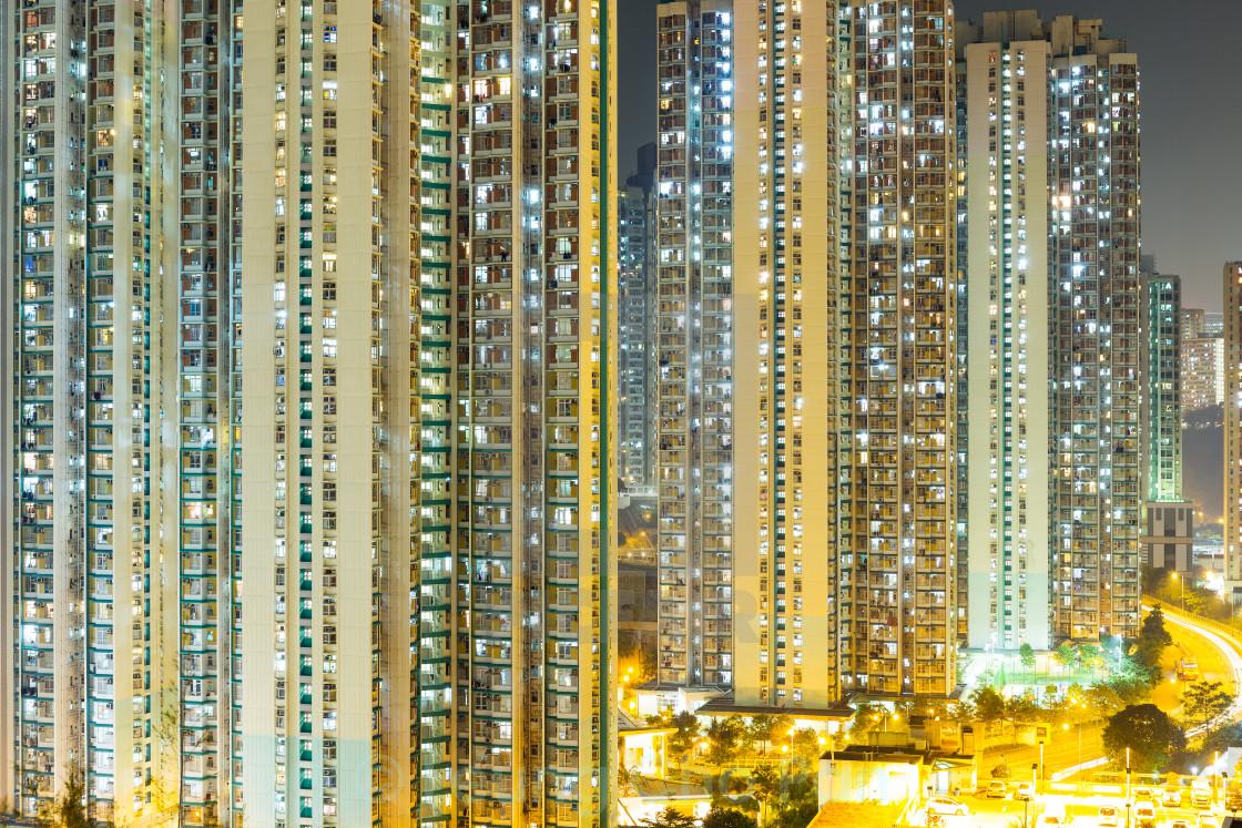"""Hong Kong night"" stock image"