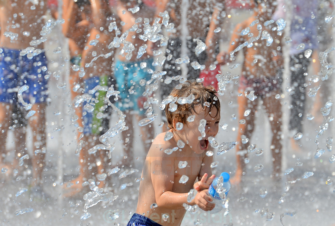 """fun with water"" stock image"