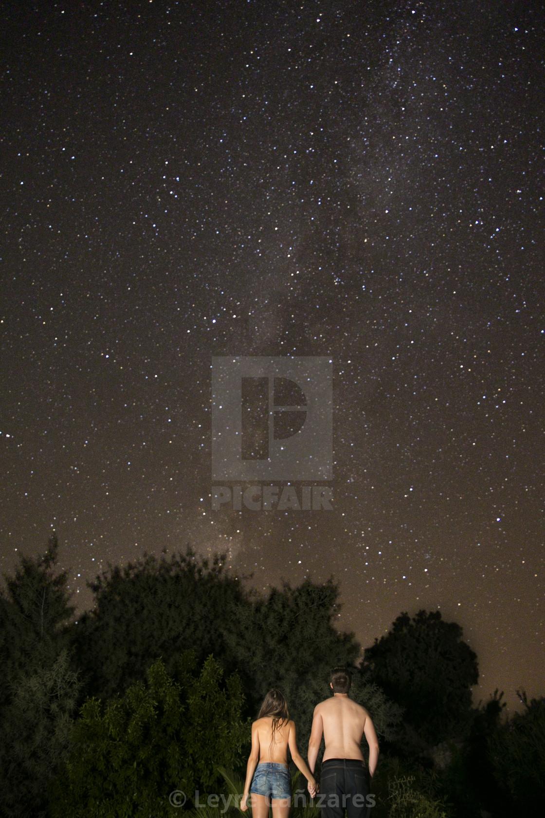 """Under the stars"" stock image"