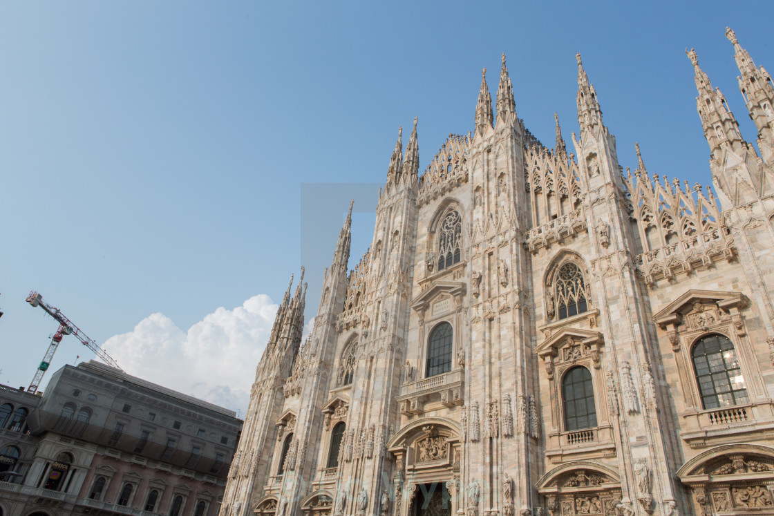 """Milano Duomo with blu Sky and Cloud"" stock image"