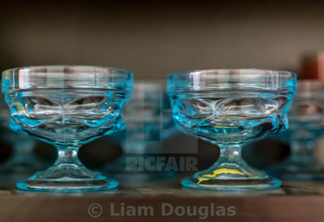 """Blue Glassware"" stock image"