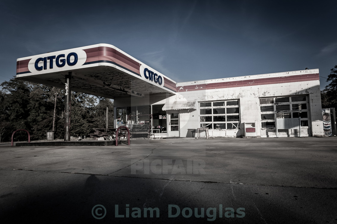 """Abandoned Citgo Station"" stock image"