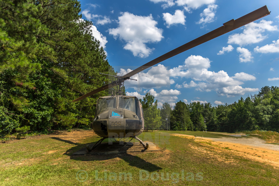 """""""Retired U.S. Army Bell UH-1 Iroquois"""" stock image"""