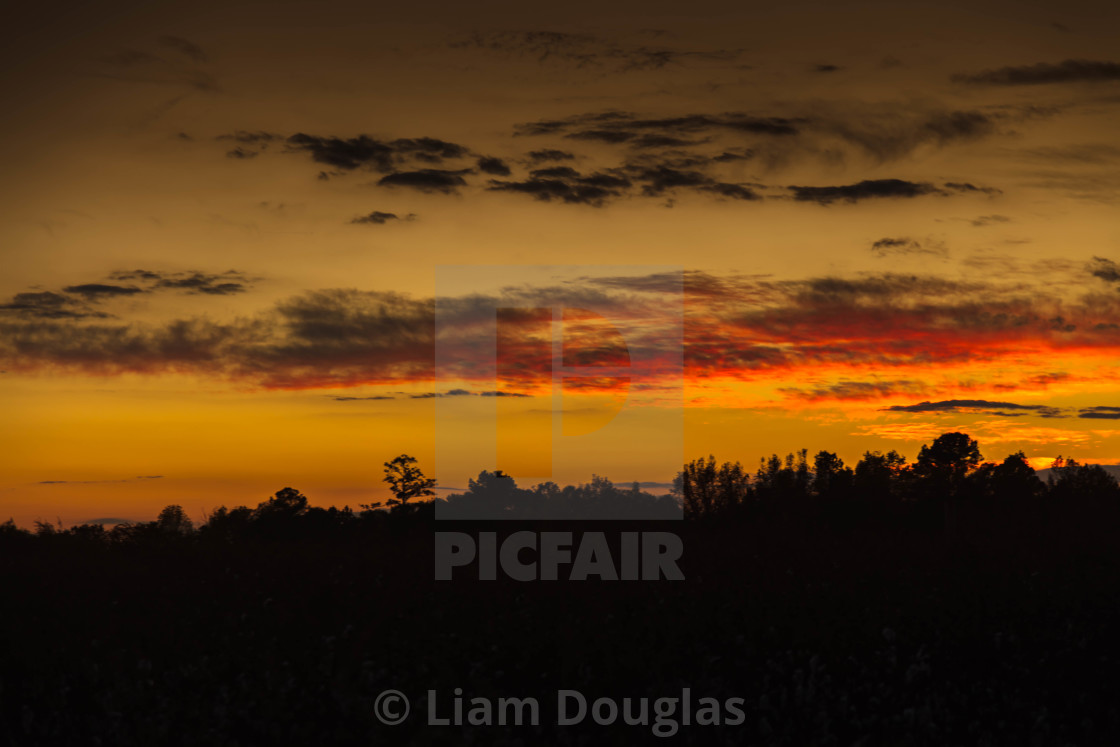 """Warm & Colorful Sunset"" stock image"