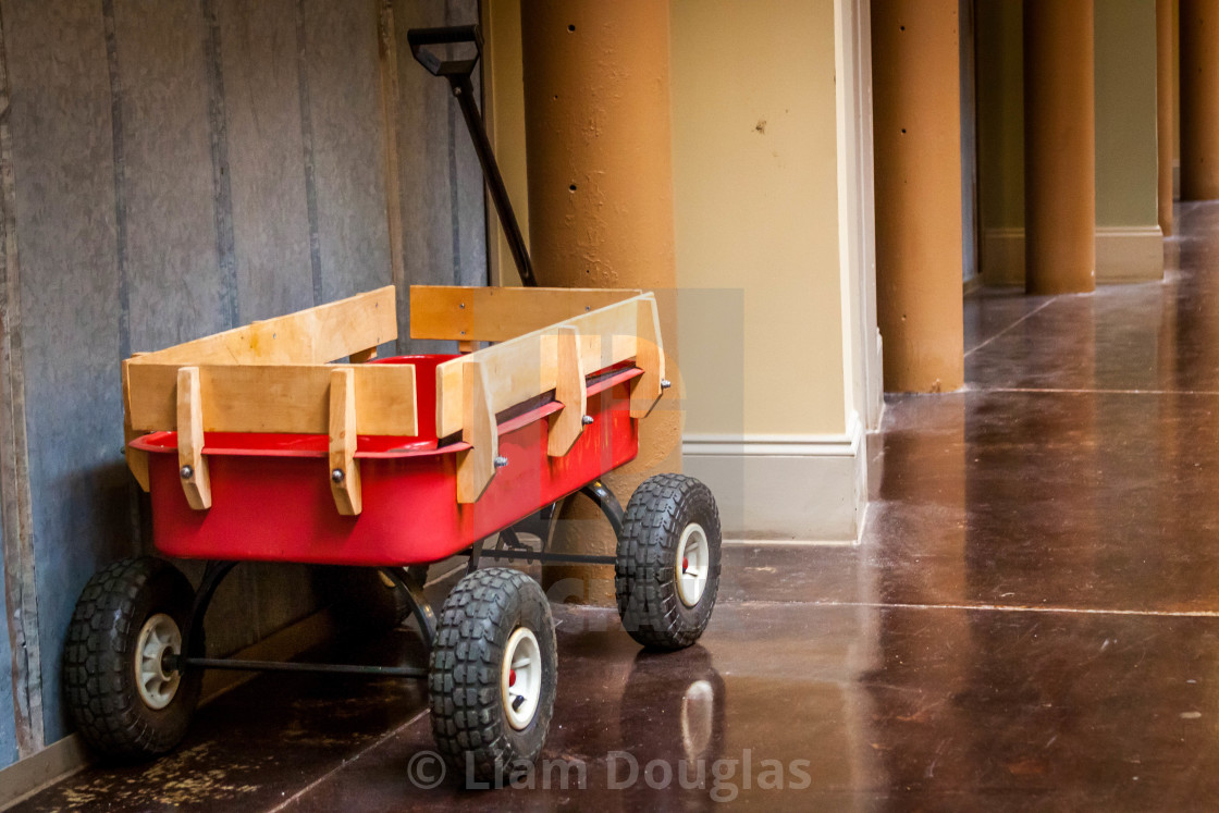 """Old Radio Flyer"" stock image"