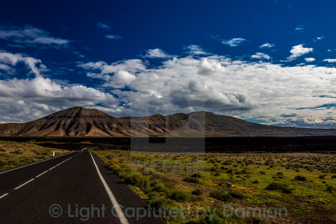 """Volcanic Road"" stock image"