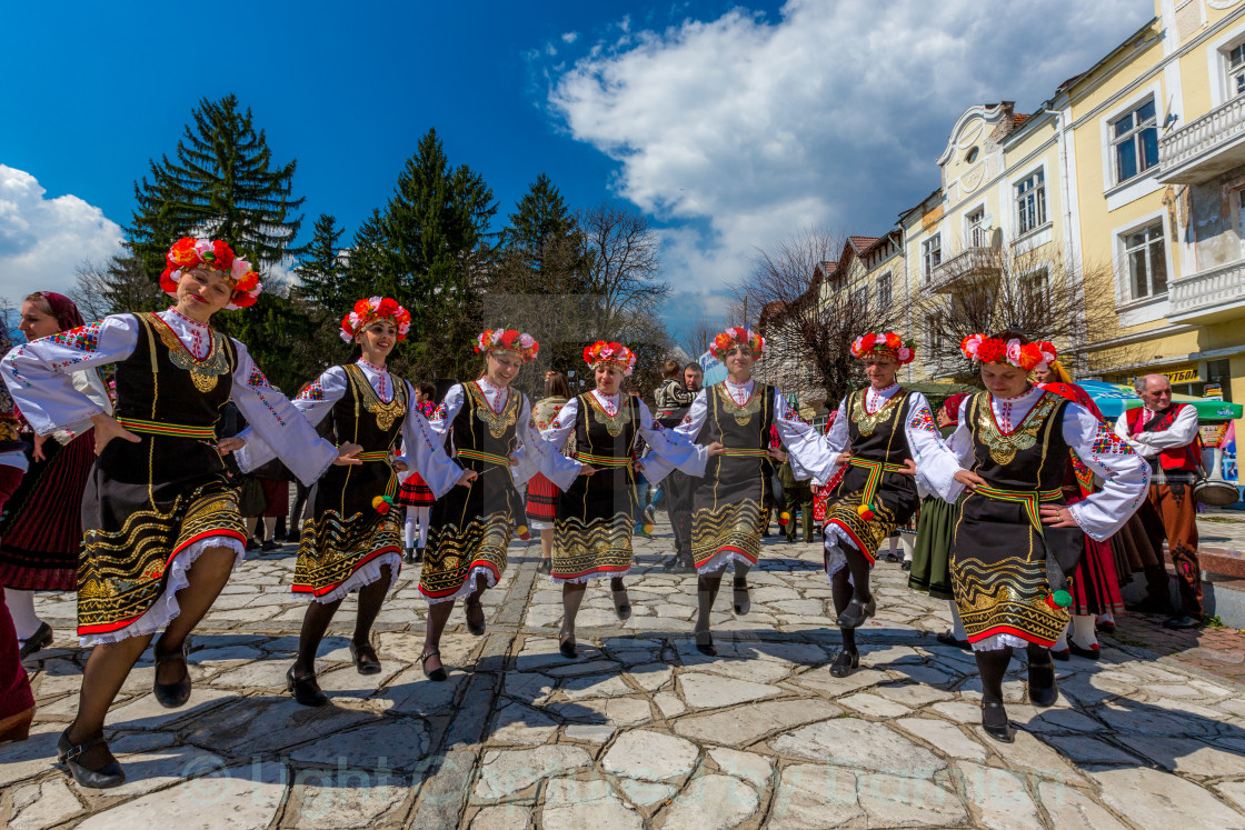 """Round Dance from Bulgaria"" stock image"