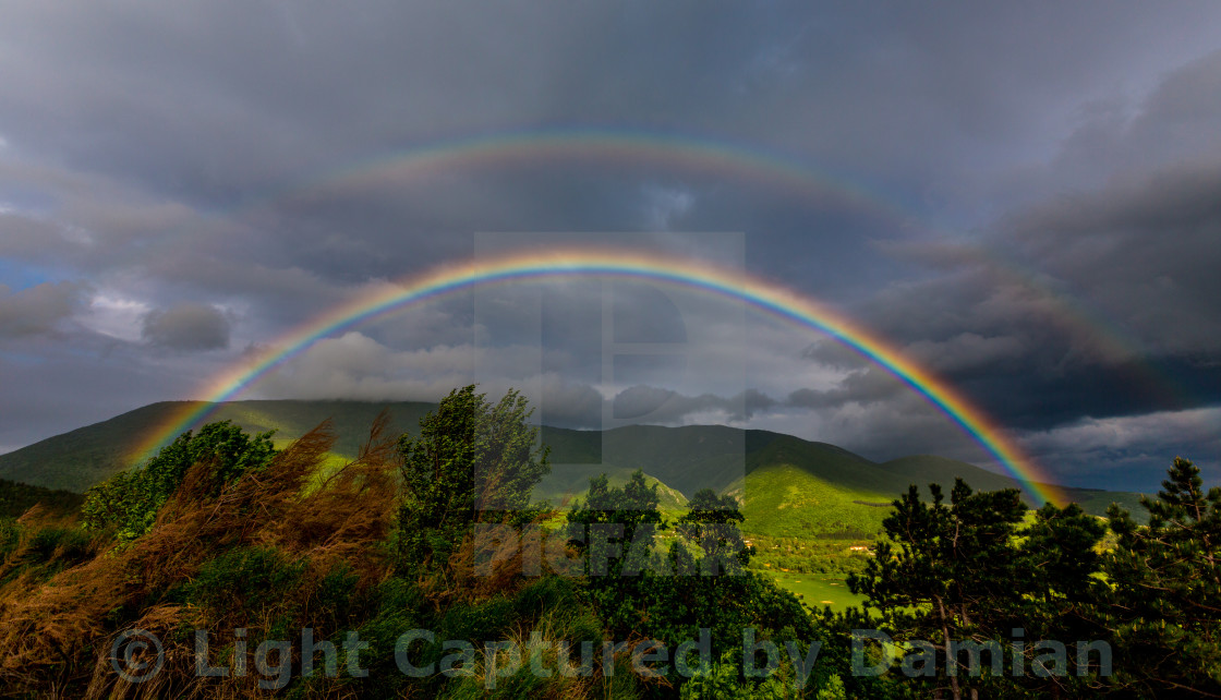 """Can you catch the rainbow?"" stock image"