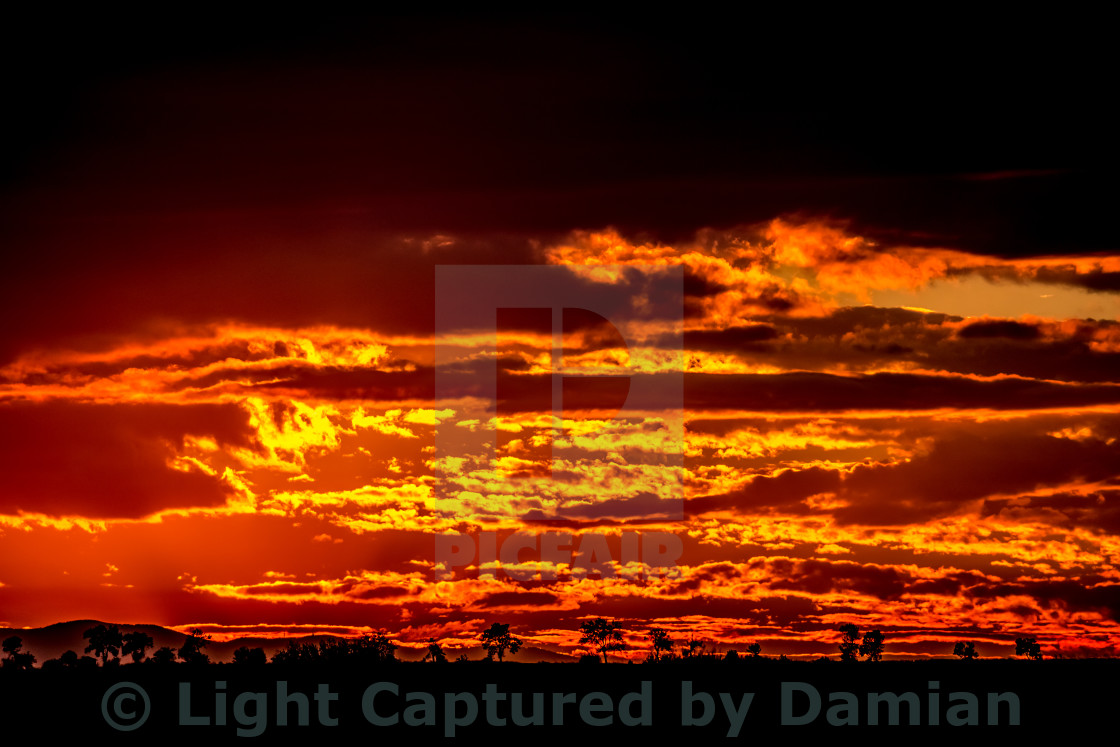 """The sky is on fire"" stock image"