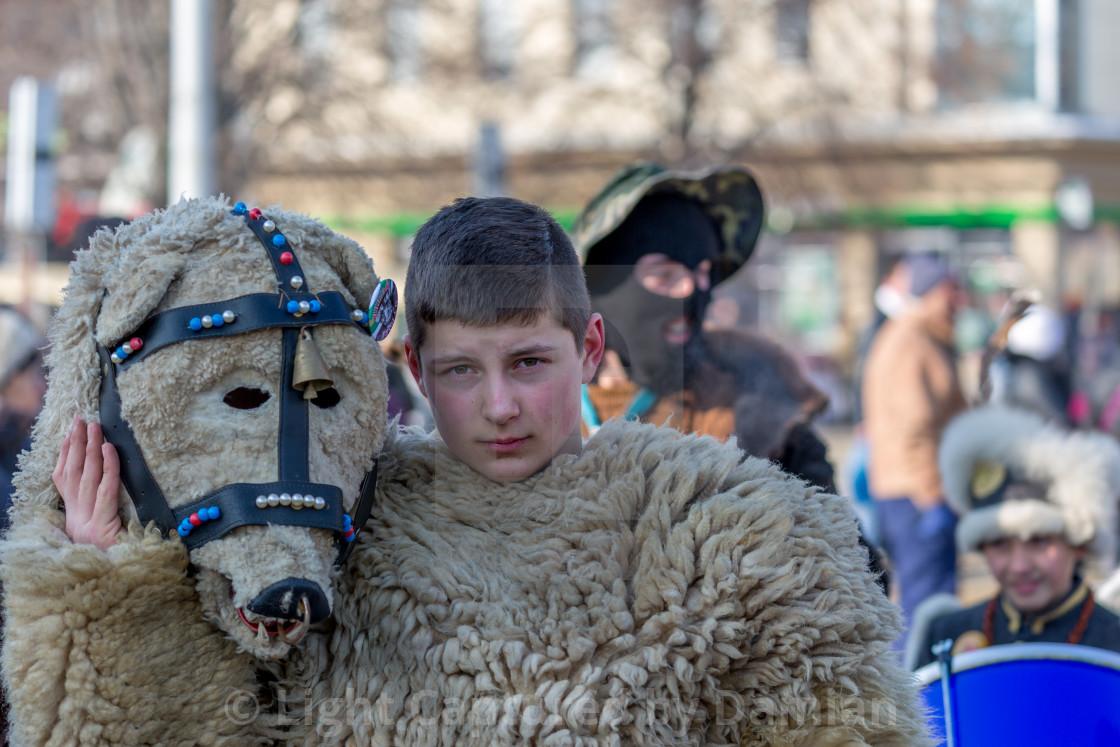 """Him and his ritual mask"" stock image"