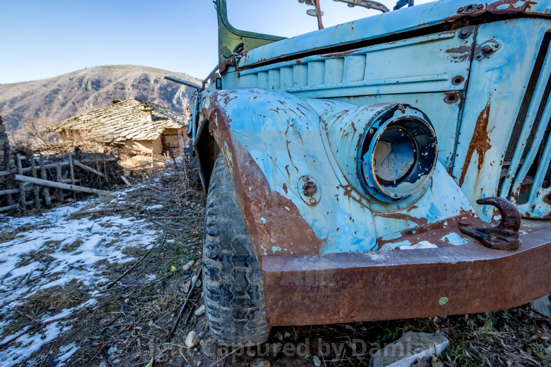 """""""Old ruined abandoned truck"""" stock image"""