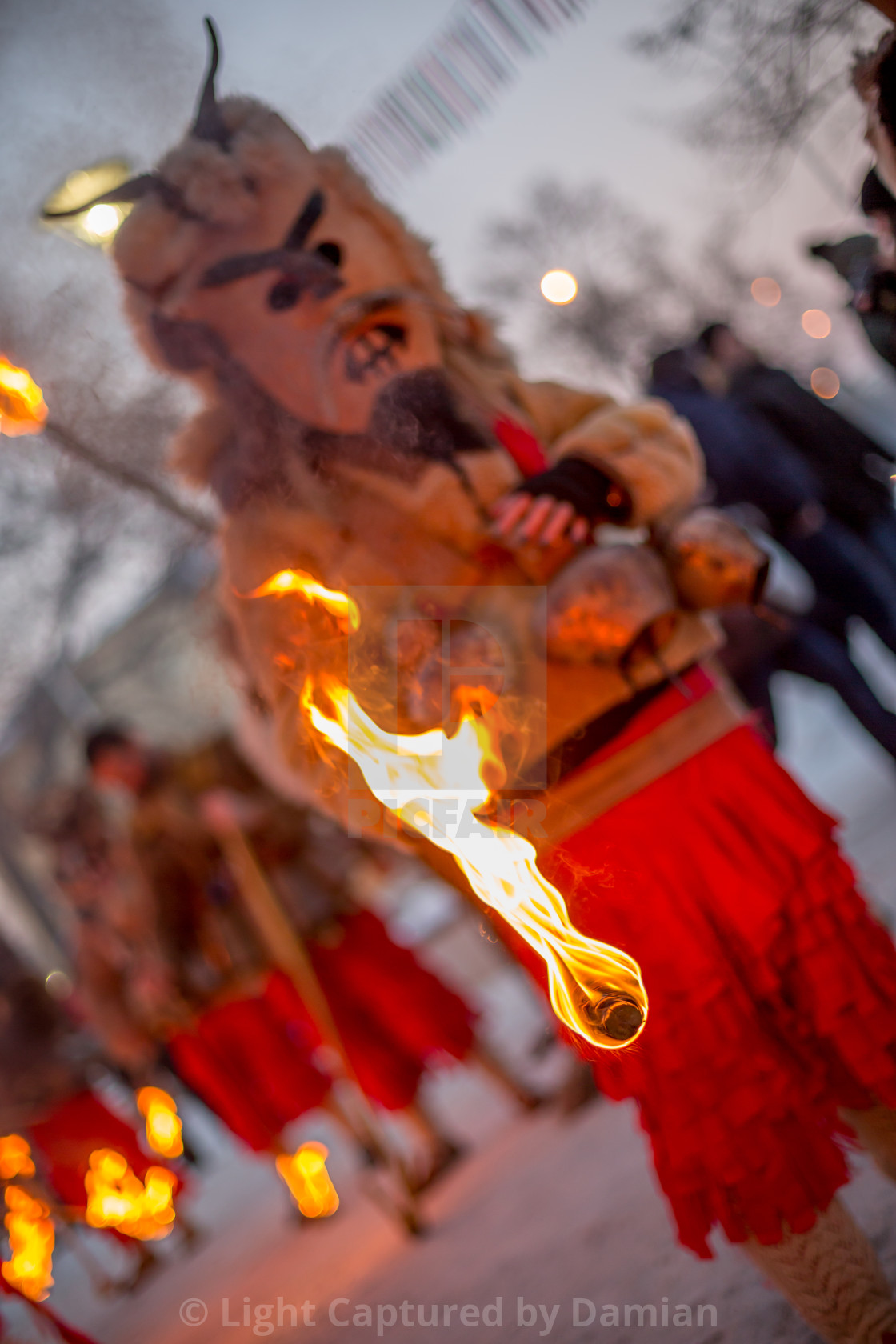 """Showing that ritual fire"" stock image"