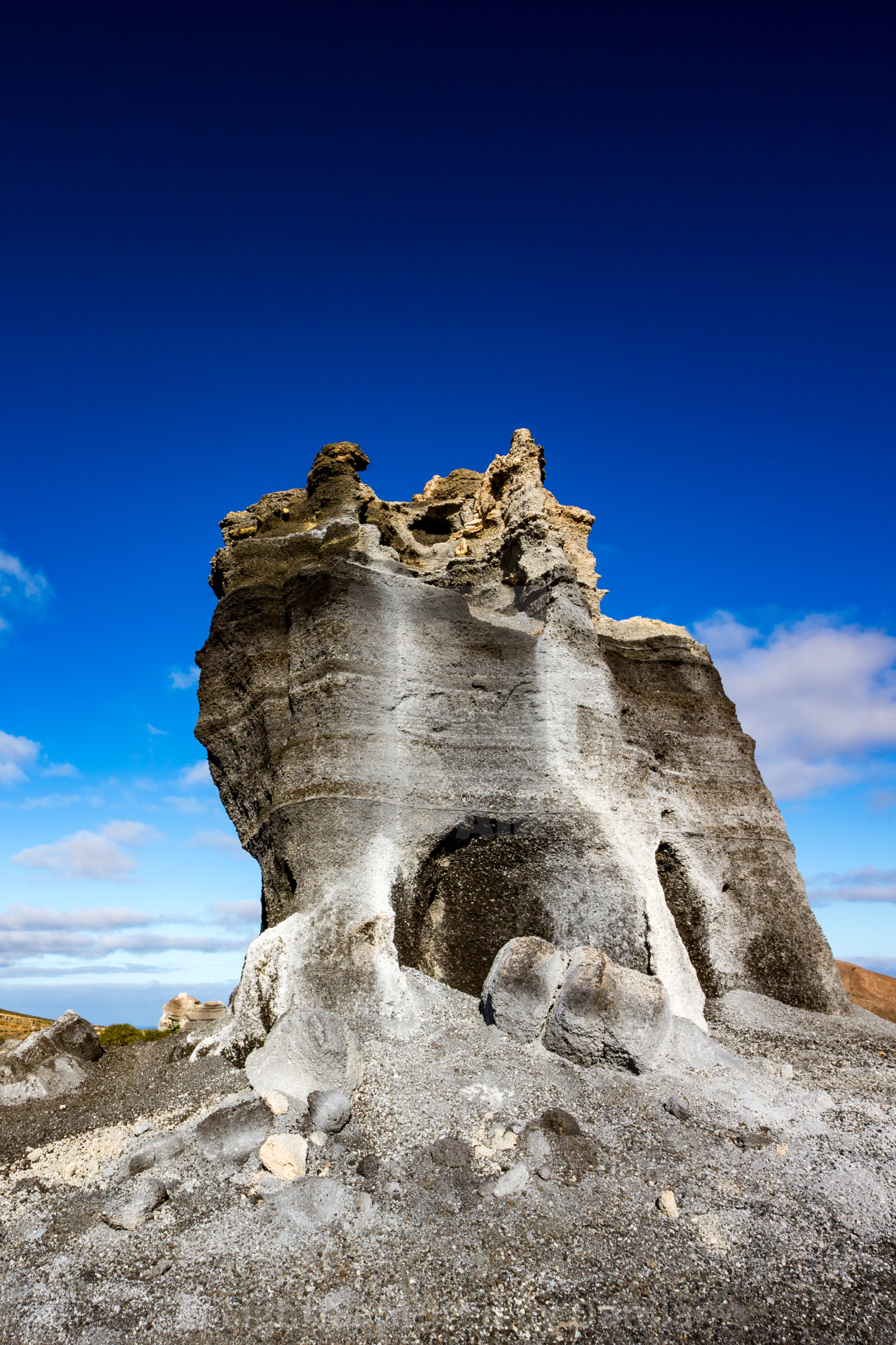 """Interesting geologic formations, Lanzarote, Spain"" stock image"