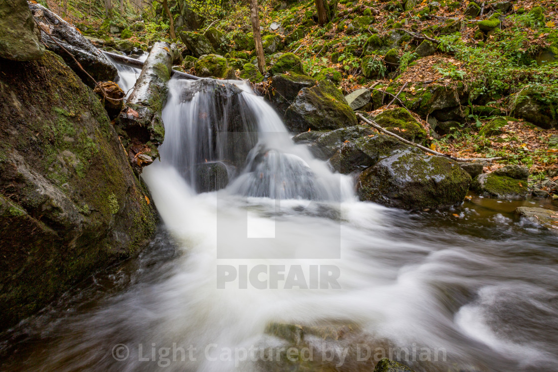 """Small blurred waterfall near Sofia, Bulgaria"" stock image"