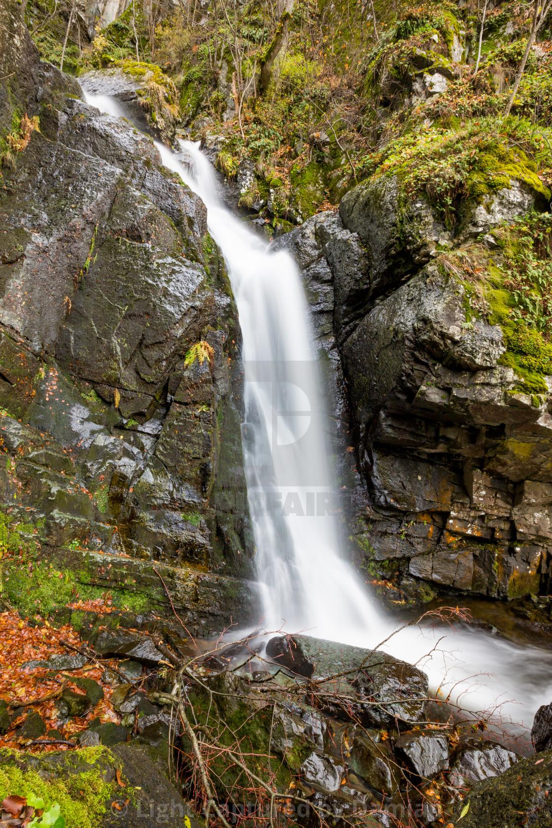 """Small blurred waterfall near Sofia, Bulgaria"" stock image"