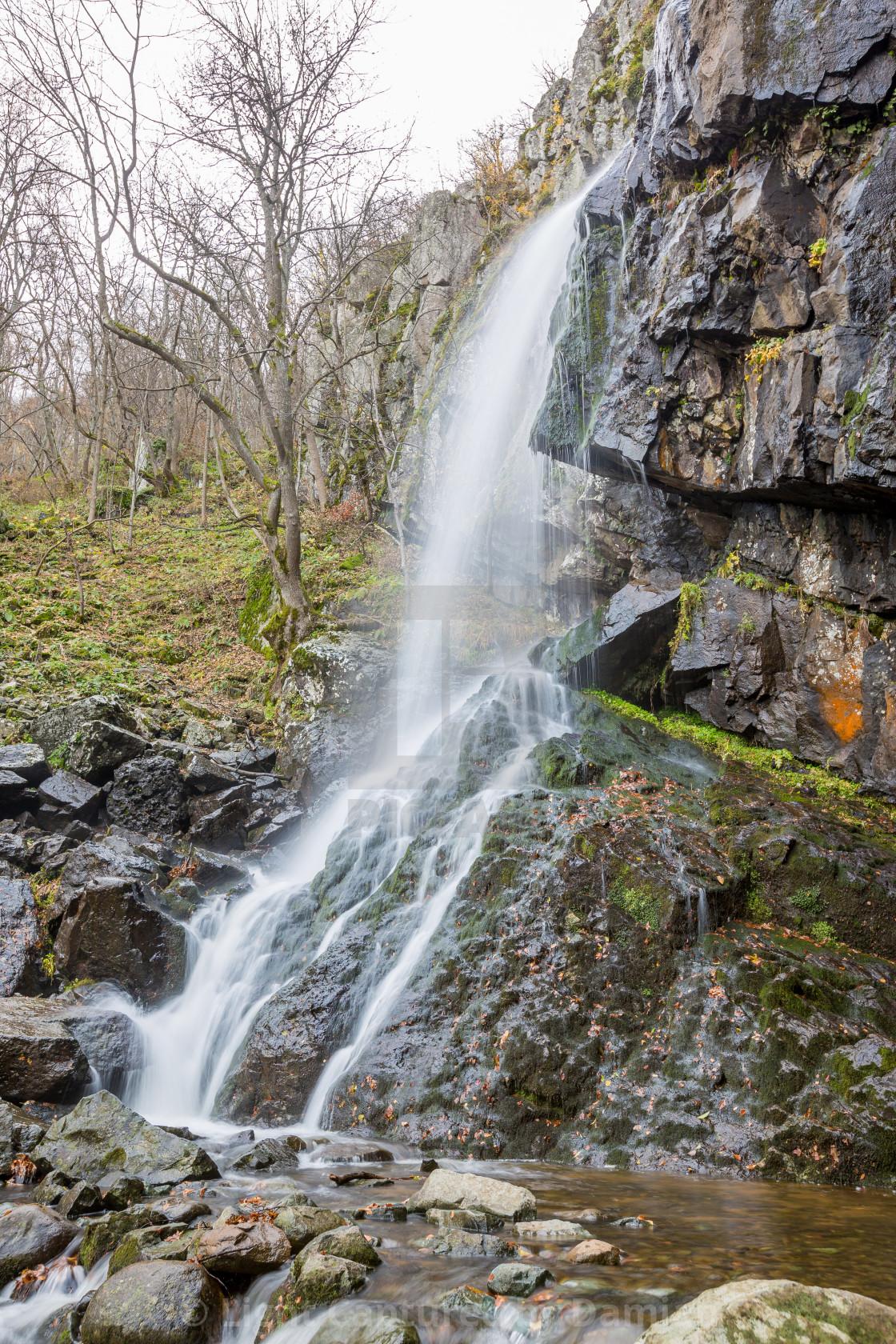 """Blurred waterfall near Sofia, Bulgaria"" stock image"
