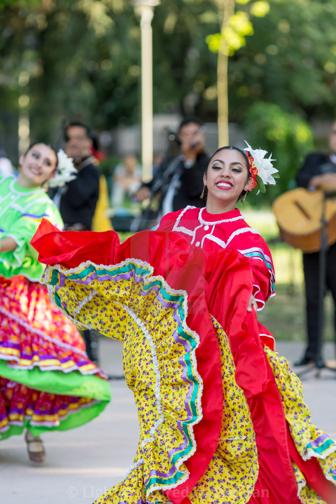 """""""Proud and happy Mexican female dancer"""" stock image"""