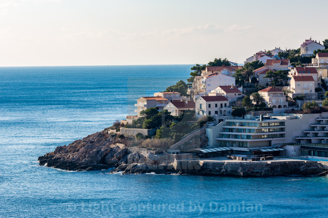 """""""View of the new city of Dubrovnik. Croatia, winter"""" stock image"""