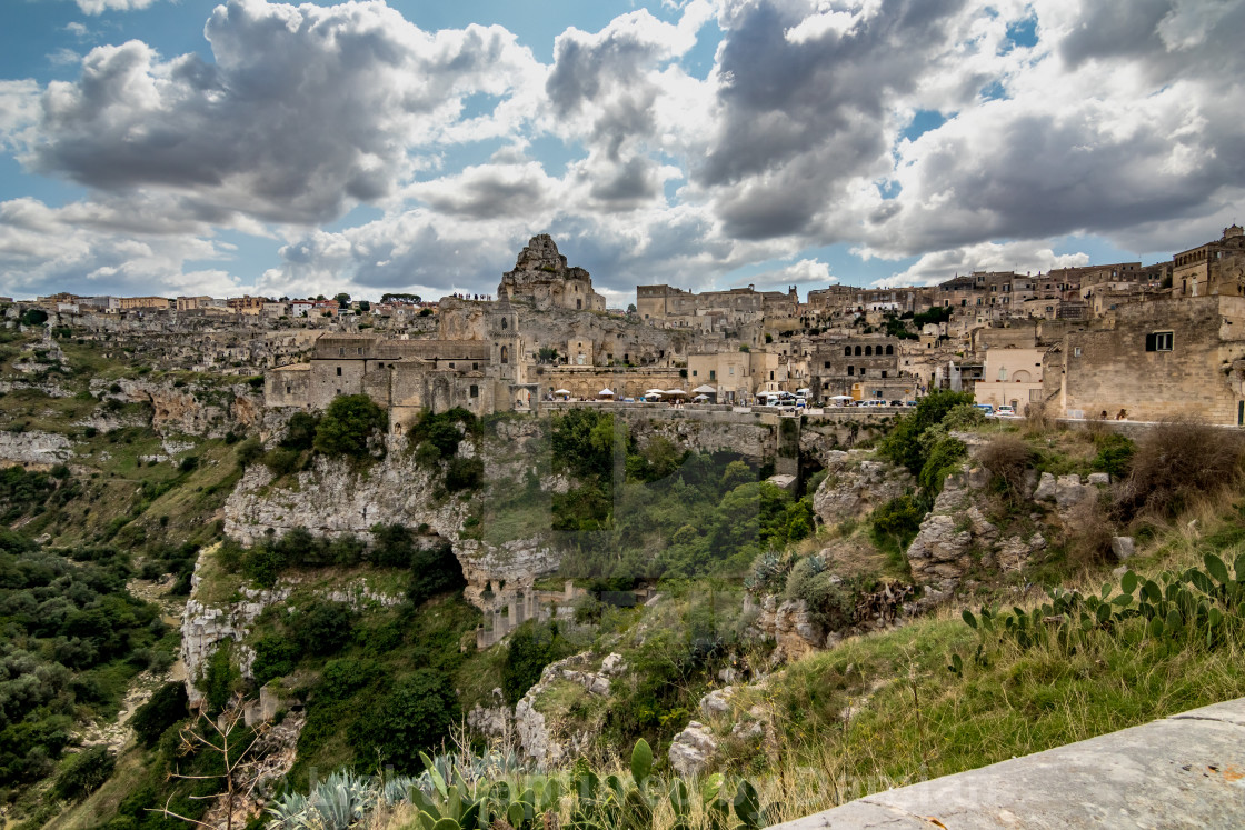 """Sunny summer day street view of Matera, Italy"" stock image"