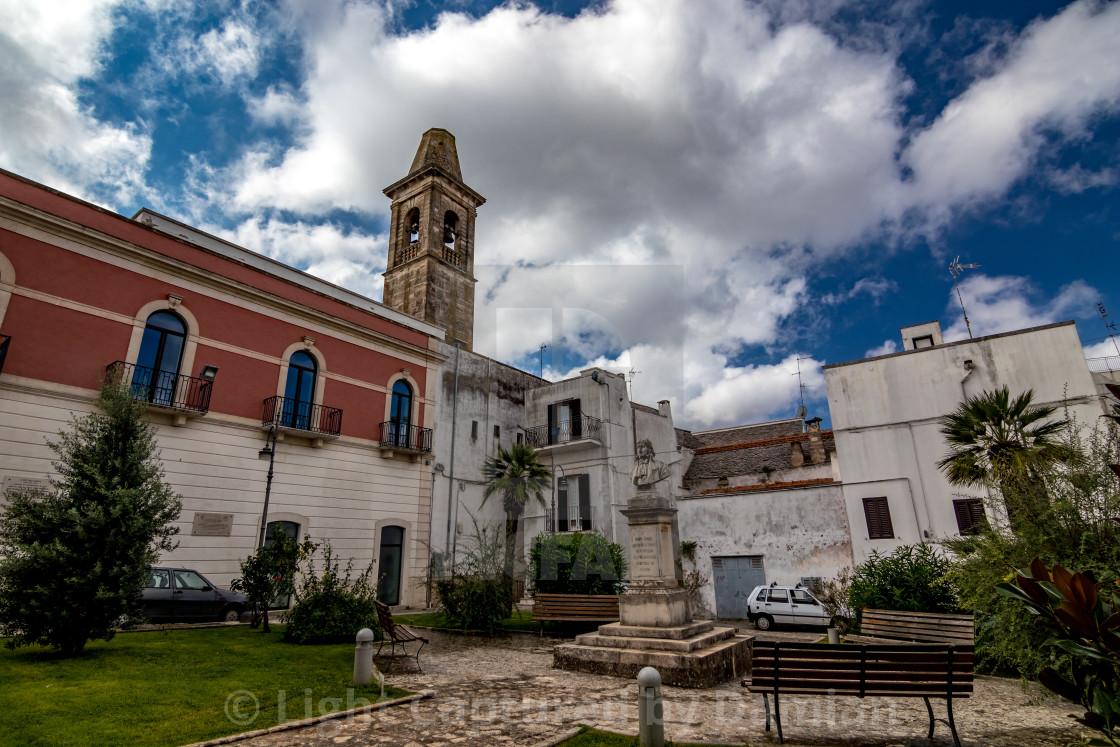 """Alley in public park, Noci. Puglia. Italy"" stock image"