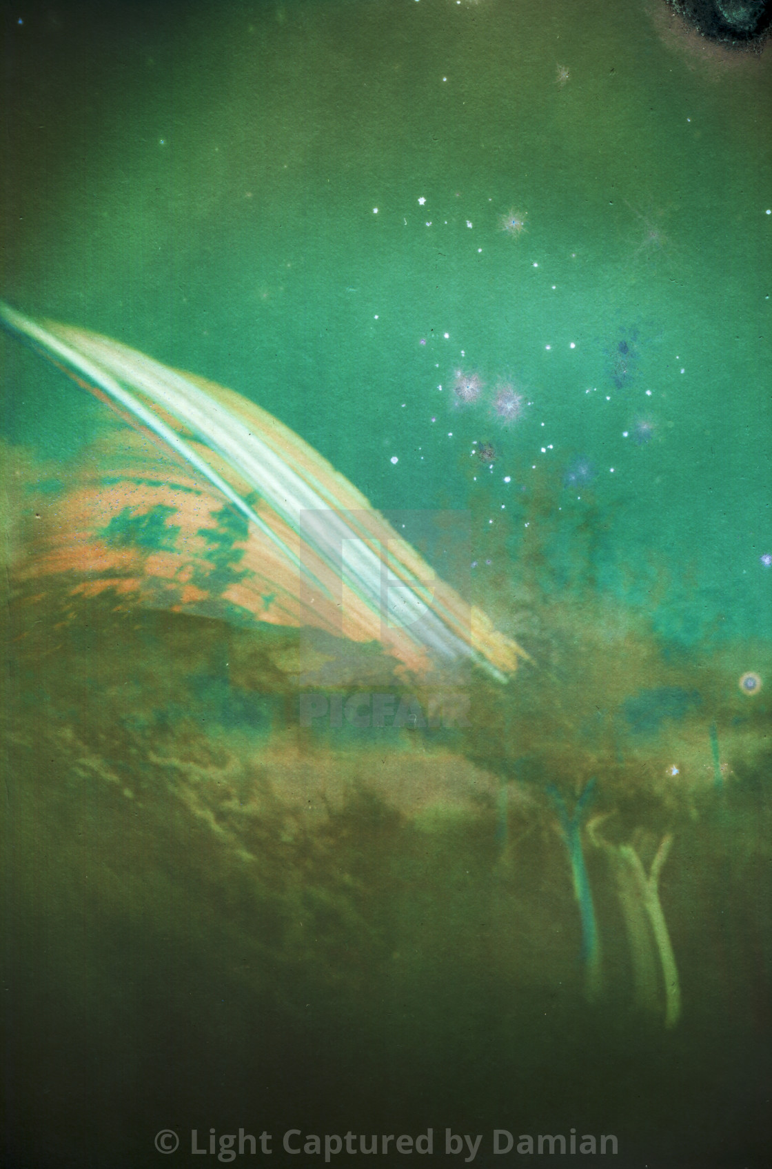 """6 months solargraphy, analog photography"" stock image"