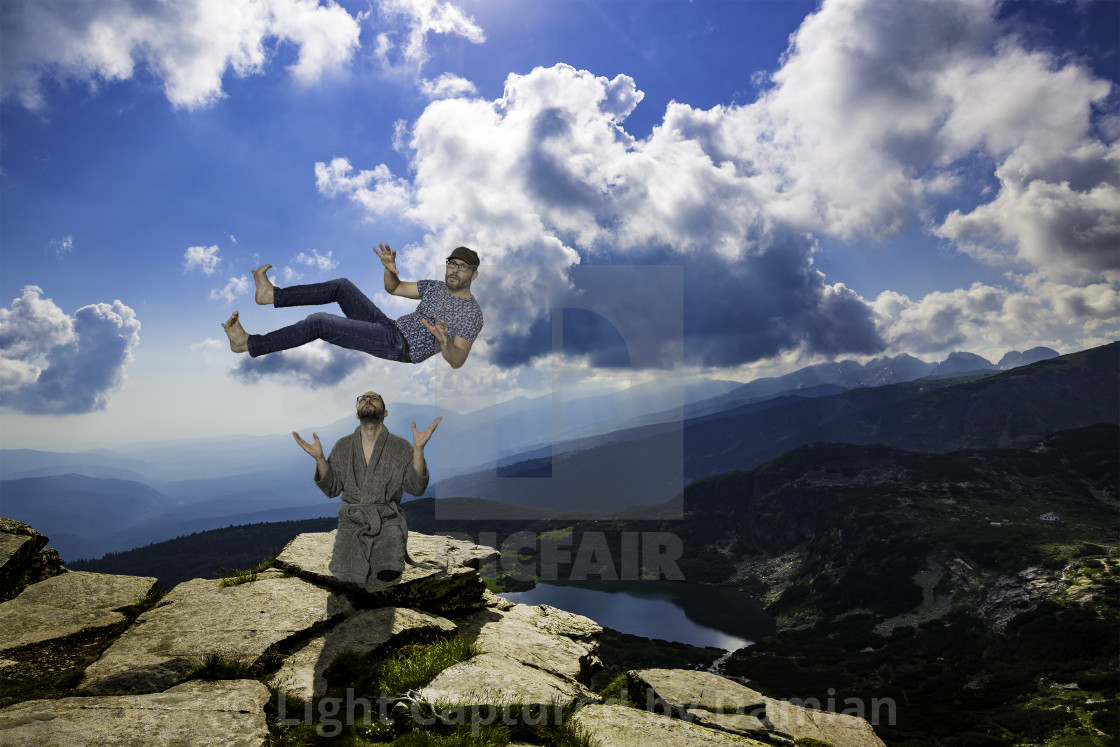 """Lift your spirit on"" stock image"