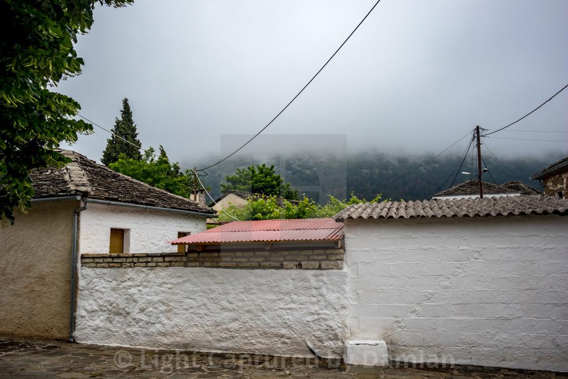 """Street view, Ioannina island, Greece"" stock image"