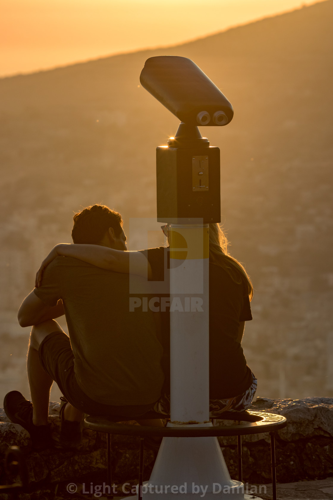 """""""Waiting together for beautiful views in Albania"""" stock image"""