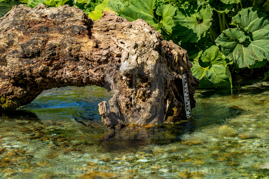 """Bistrice river, Albania near Blue Eye water source"" stock image"