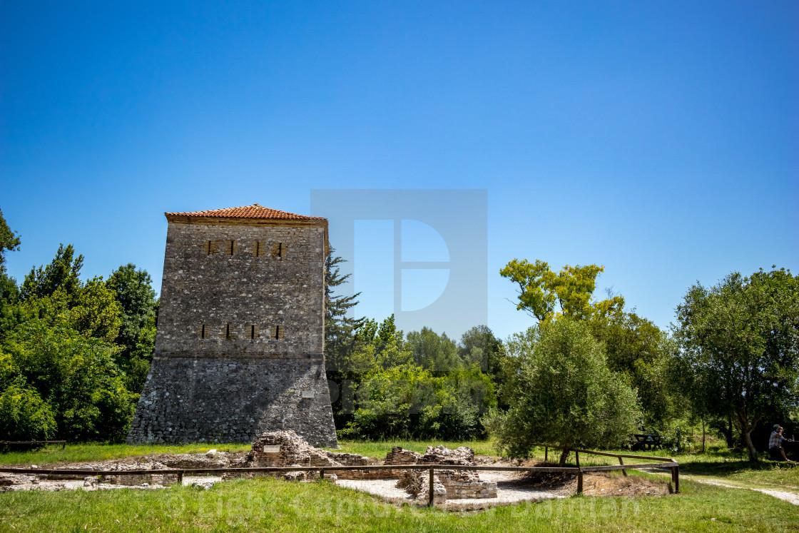 """Venetian Tower, Butrint park, Albania"" stock image"