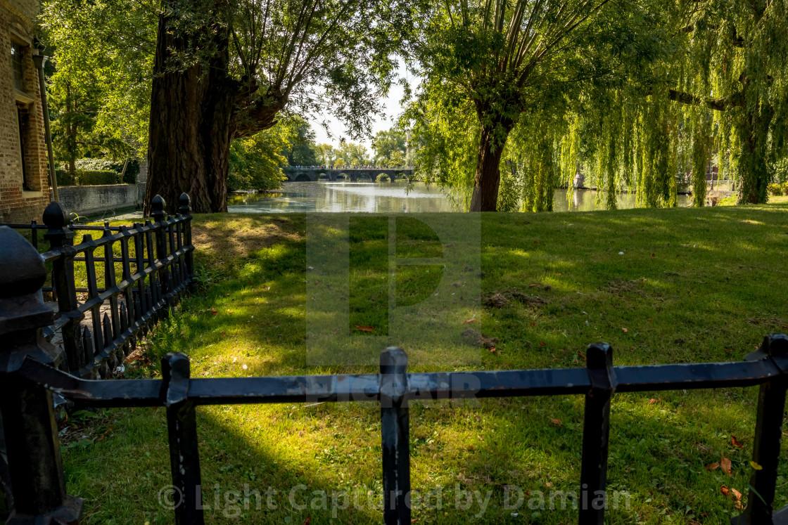 """Calm scene of warm summer day under shadows"" stock image"