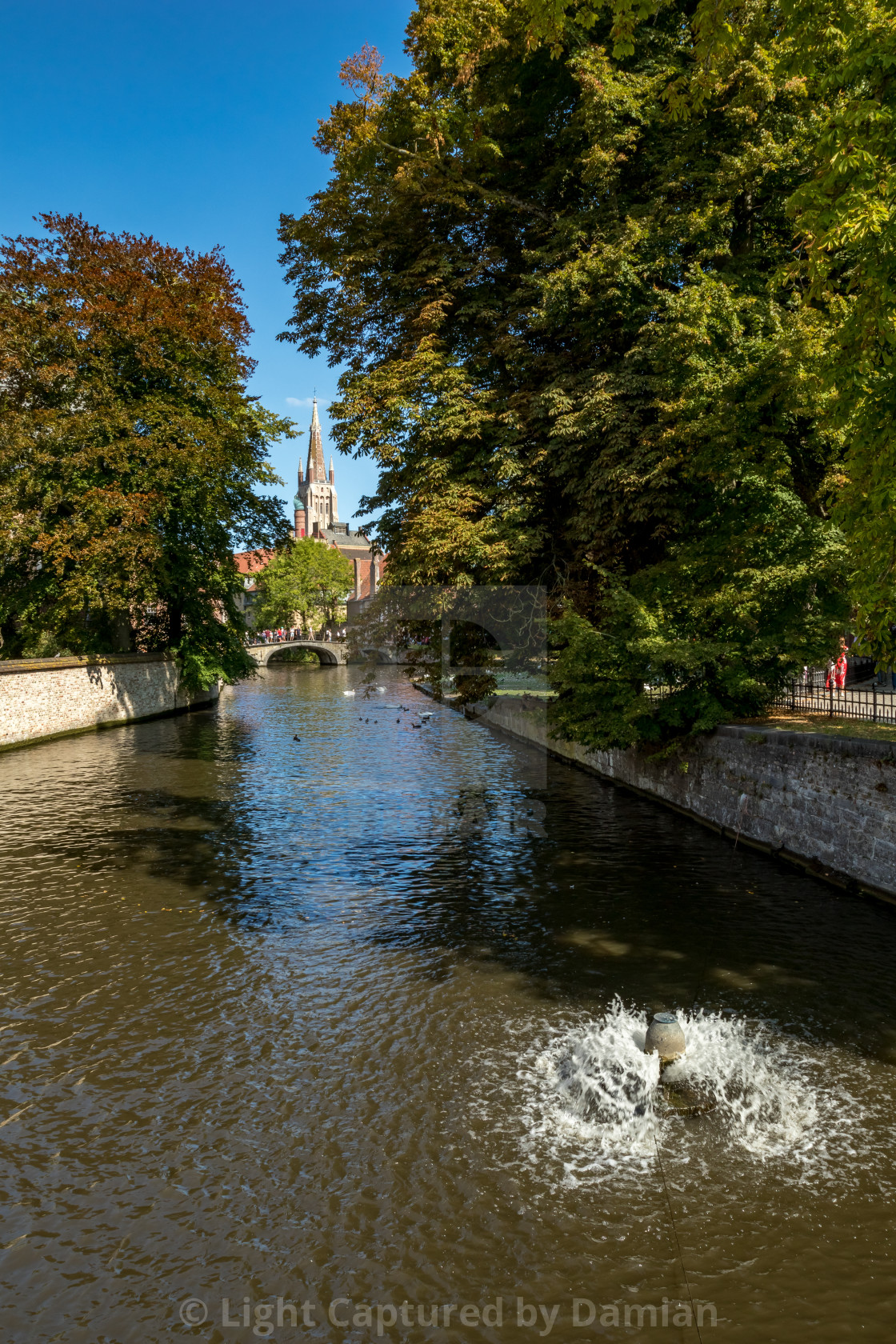 """""""Calm scene of warm summer day, water canal"""" stock image"""