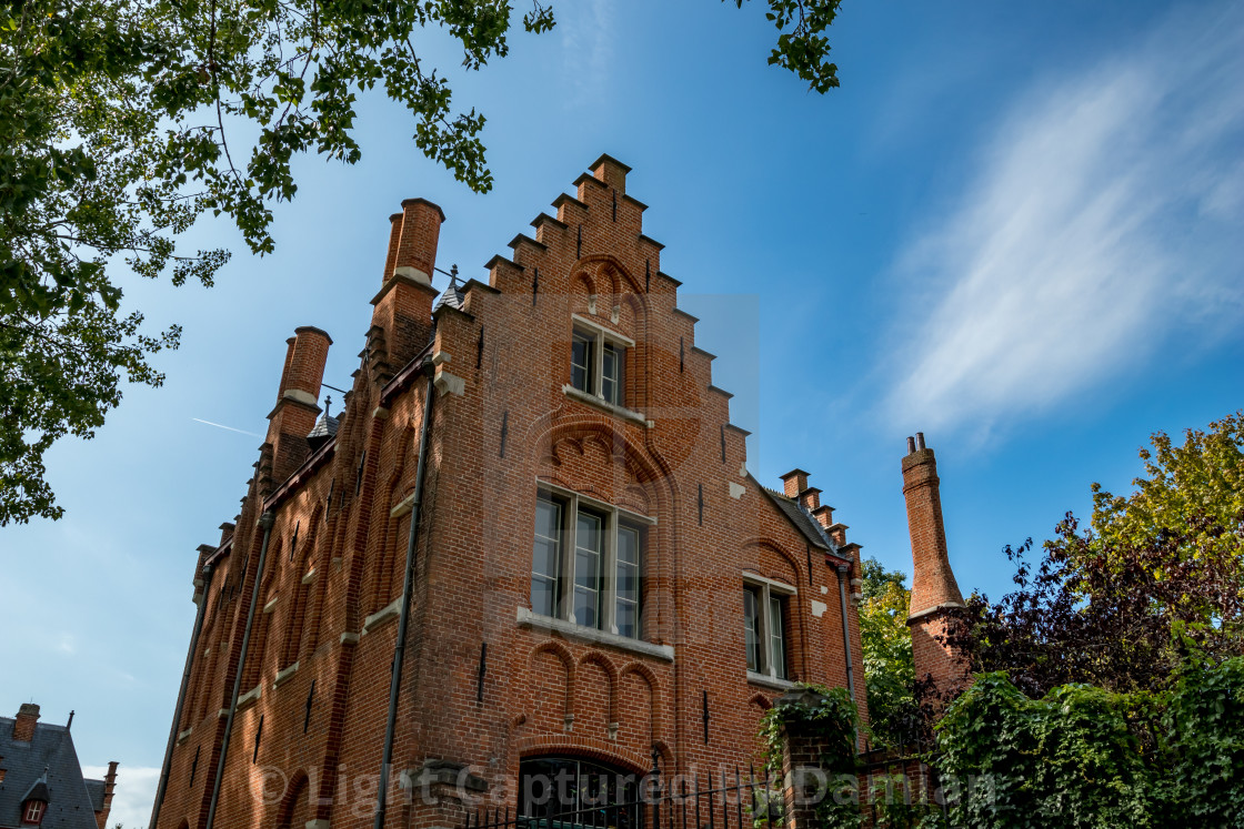 """""""Calm scene with light facade in warm summer day"""" stock image"""