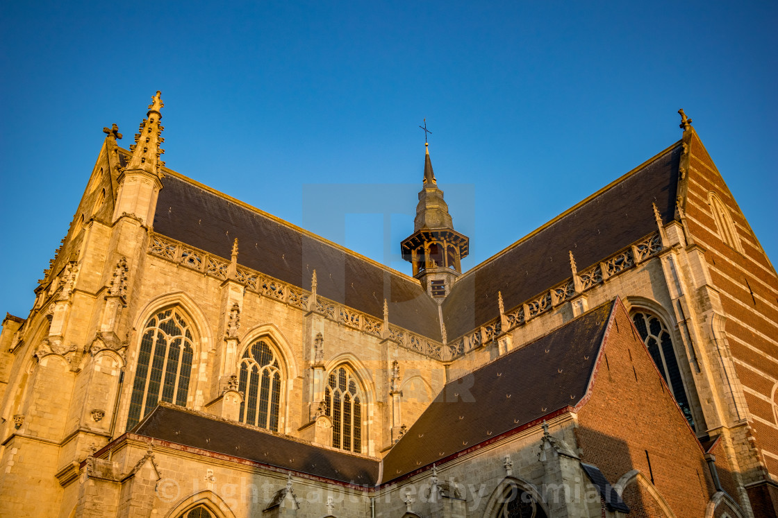"""Church of Aalst, Belgium, beautiful afternoon"" stock image"