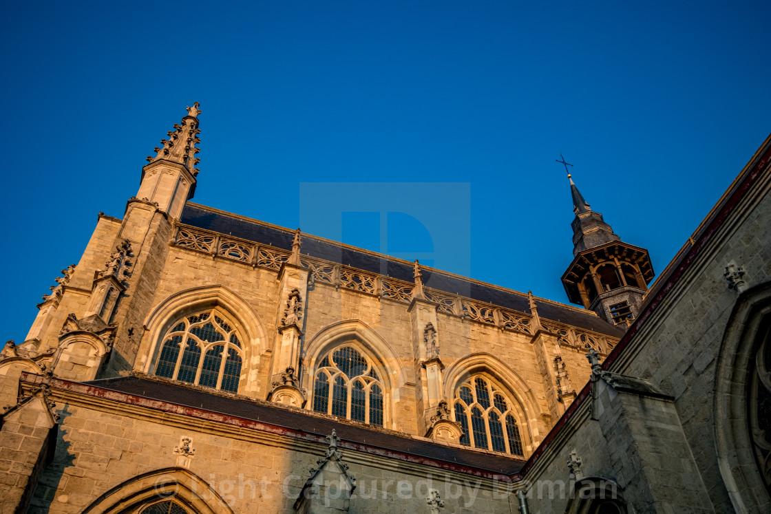 """Church of Aalst, Belgium, beautiful afternoon"" stock image"