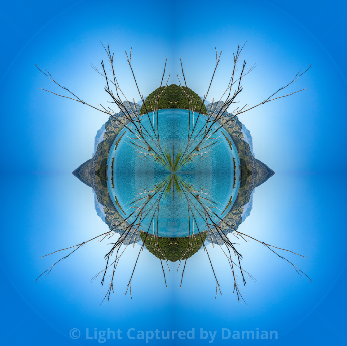 """Butrint, Albania, abstract planet"" stock image"