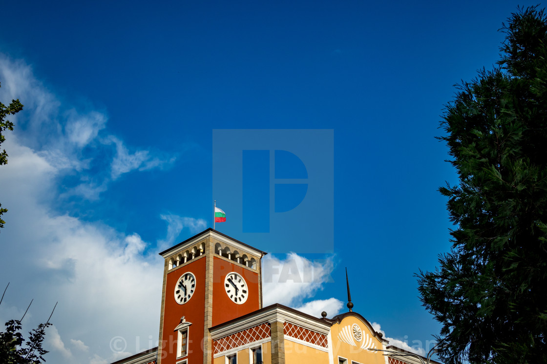 """The top of the townhall"" stock image"