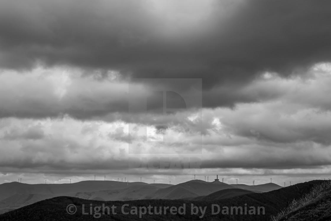"""Dramatic view, Buzludzha, Bulgaria"" stock image"