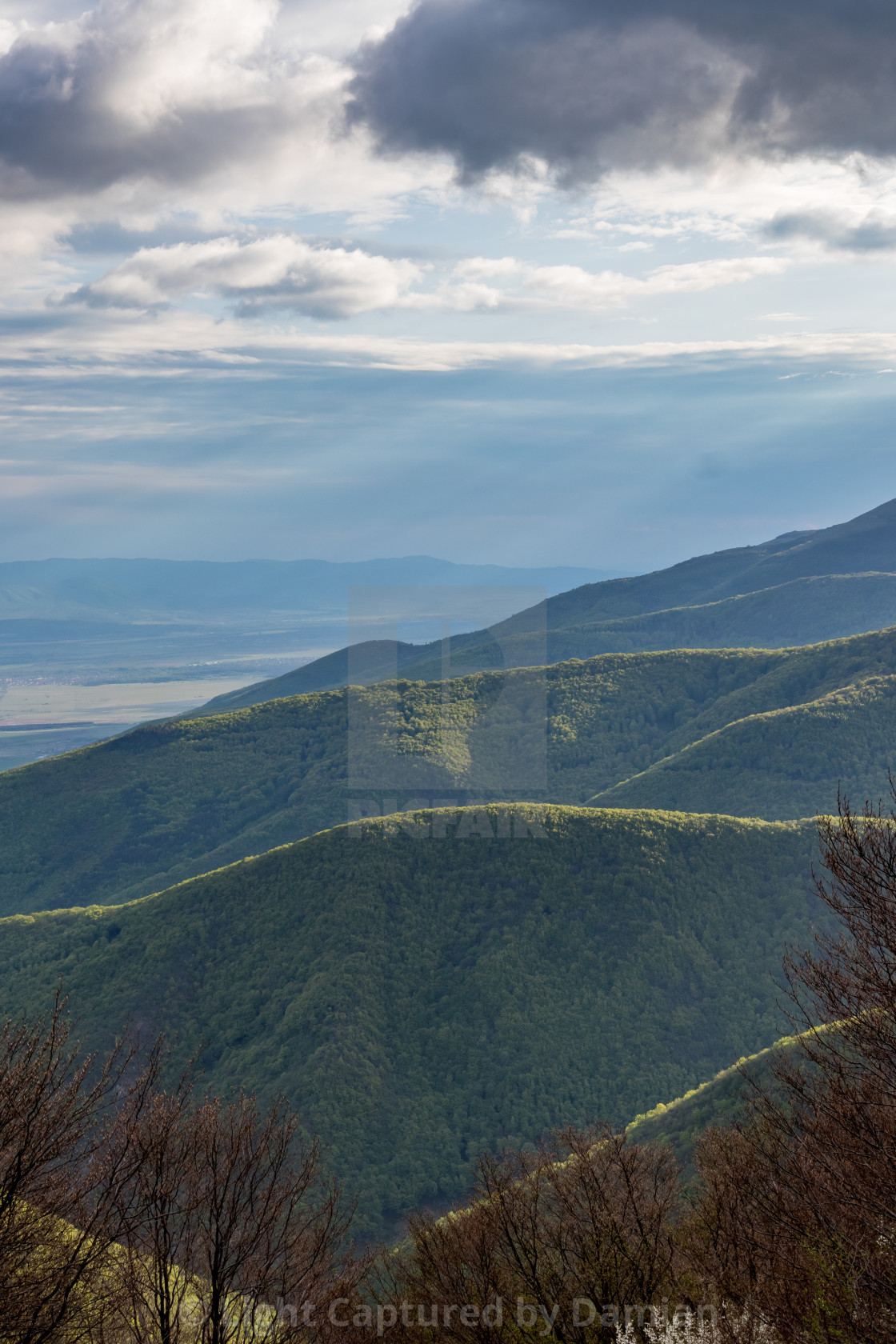 """""""Dramatic view from Shipka monument, Bulgaria"""" stock image"""
