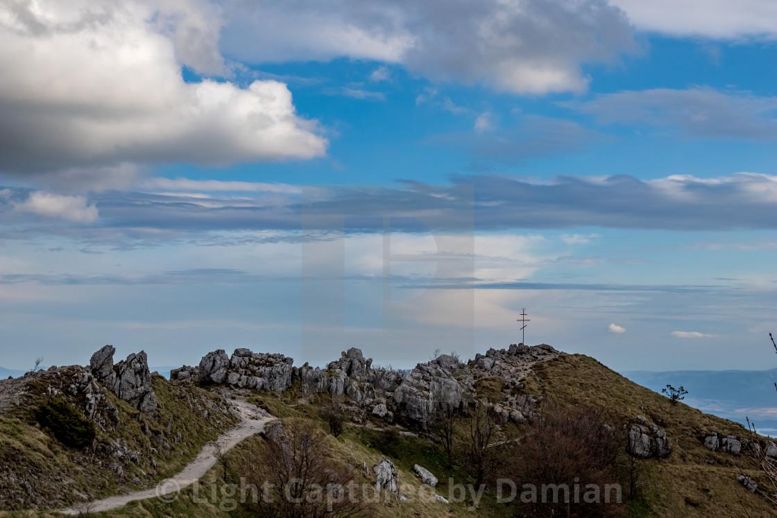 """Dramatic view, Shipka monument, Bulgaria"" stock image"