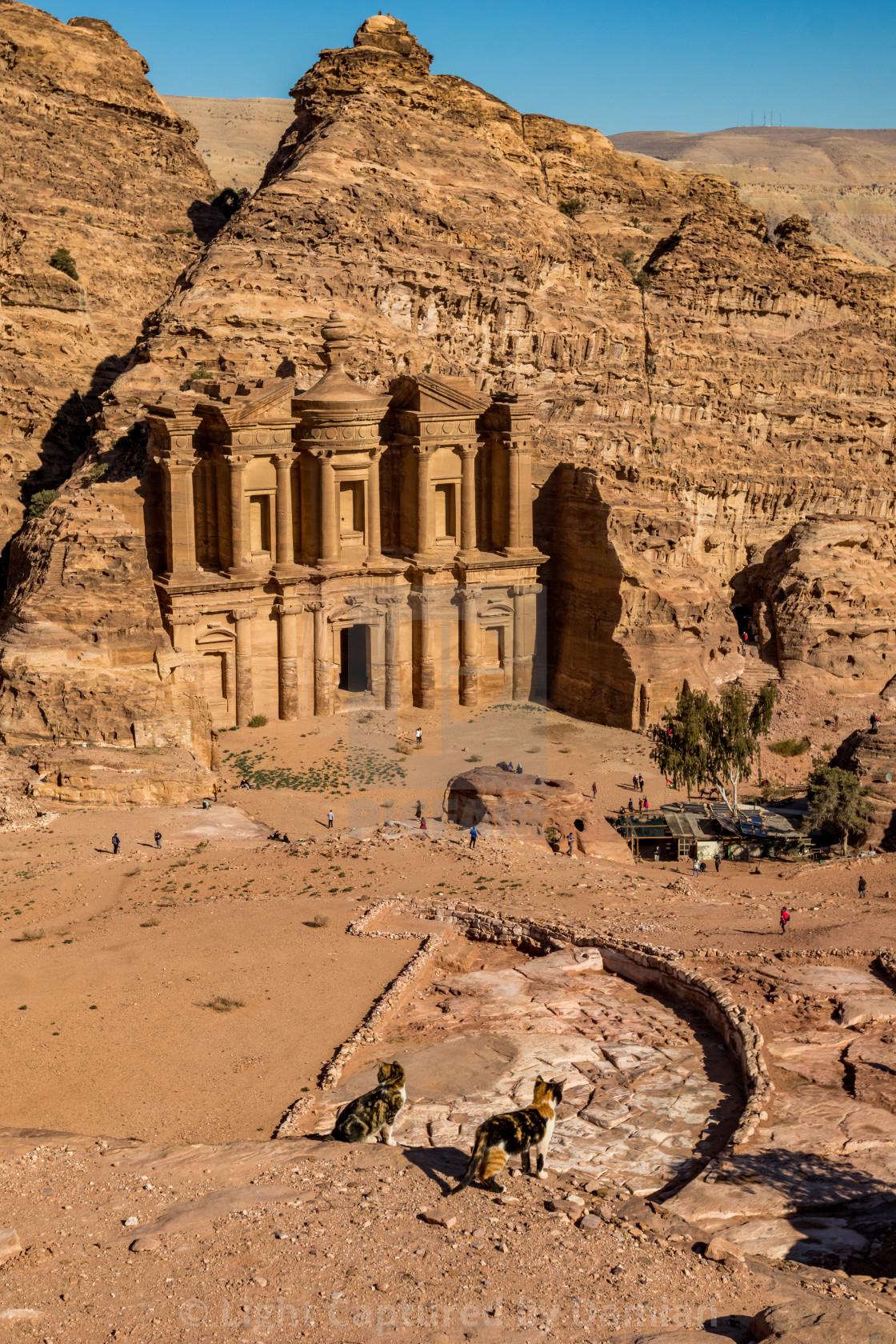 """Jordan, Petra. Amazing ancient religious complex"" stock image"