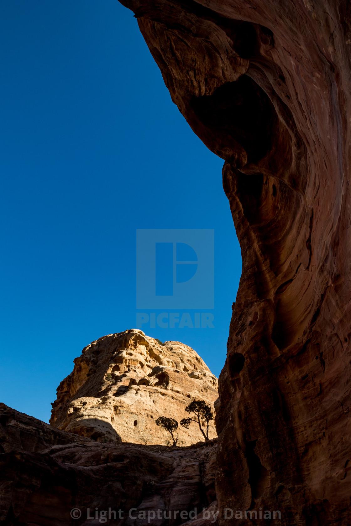 """Amazing ancient religious complex Petra, Jordan"" stock image"