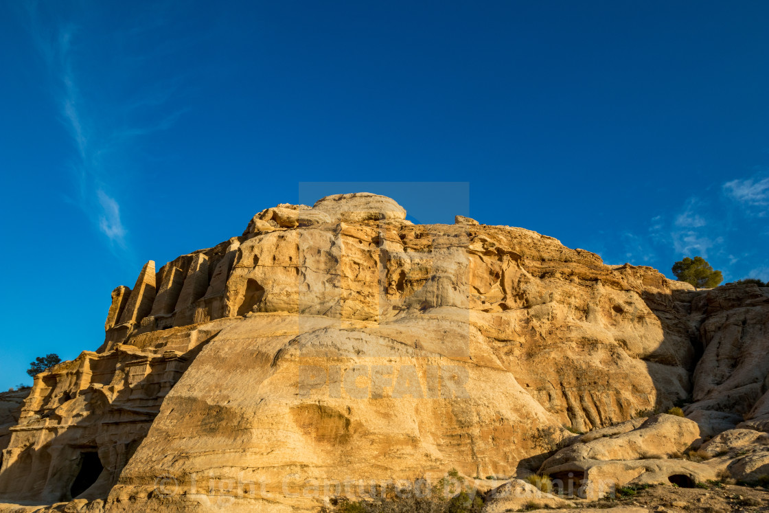 """Afternoon at Obelisk Tomb in Petra, Jordan"" stock image"
