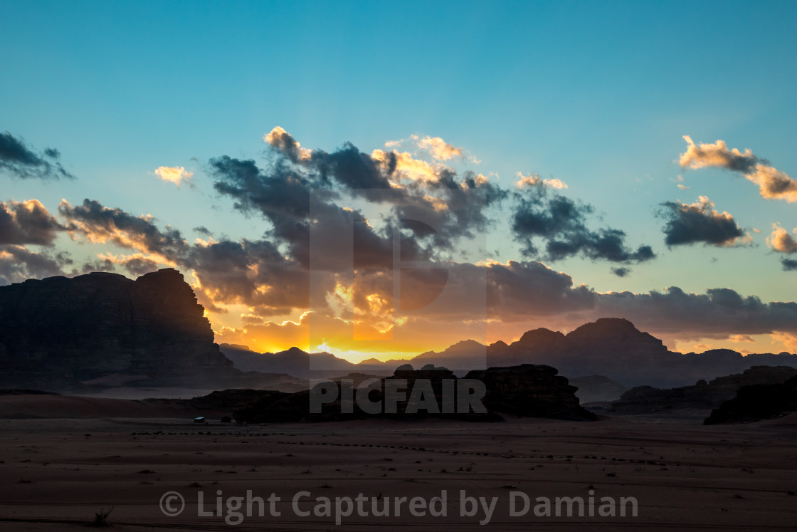 """Kingdom of Jordan, Wadi Rum desert"" stock image"